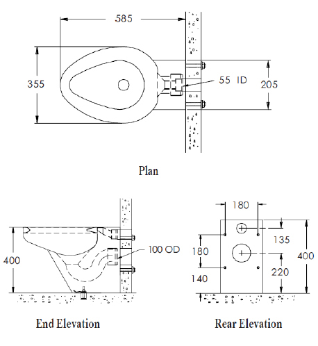 toilet dimensions from wall. Back To Wall Stainless Steel Toilet  Flange Question Ceramic Tile Advice Forums John Alfa Img
