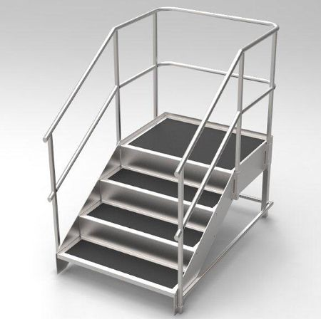 Physiotherapy Training Stairs Stainless Steel Made To Order