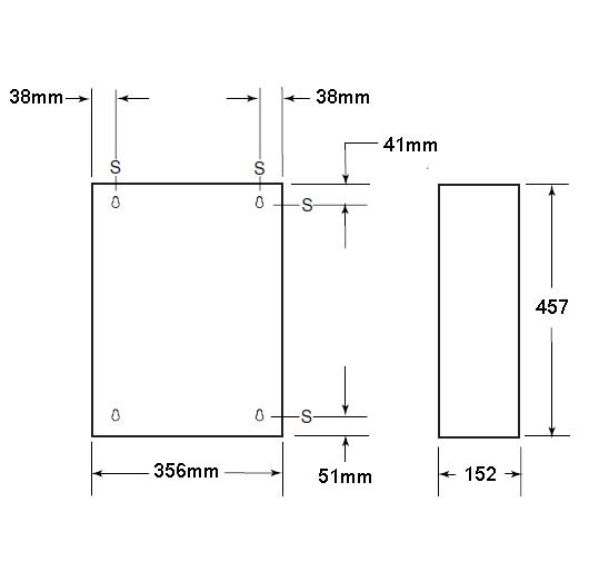 stainless steel 26.5 litre wall mounted waste bin