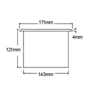 countertop waste chute dimensions