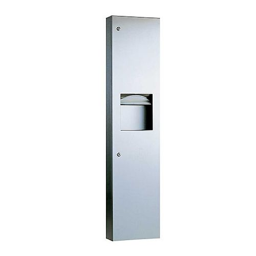 Surface Mounted Combined Towel Dispenser Waste Bin image