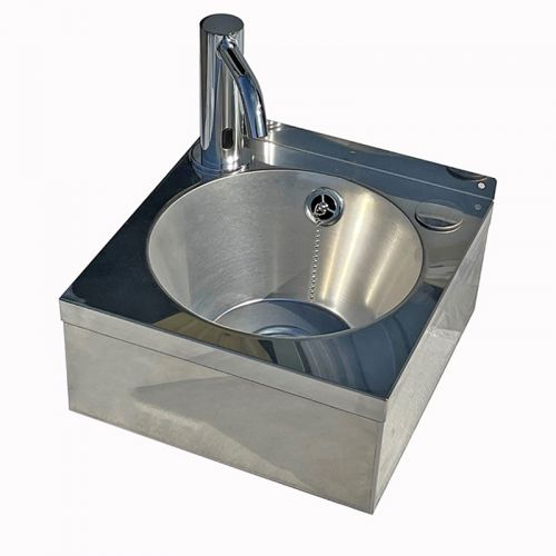 Stainless Steel Compact Wash Basin With Sensor Tap image