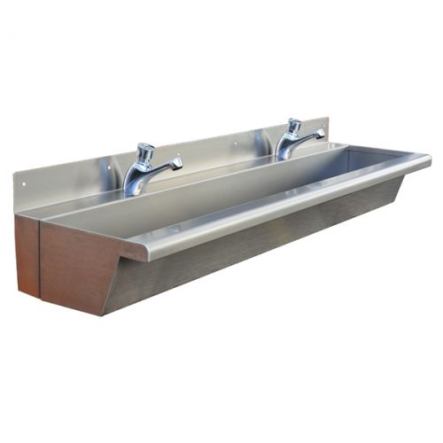 Compact Wash Troughs Stainless Steel Narrow Trough Sink