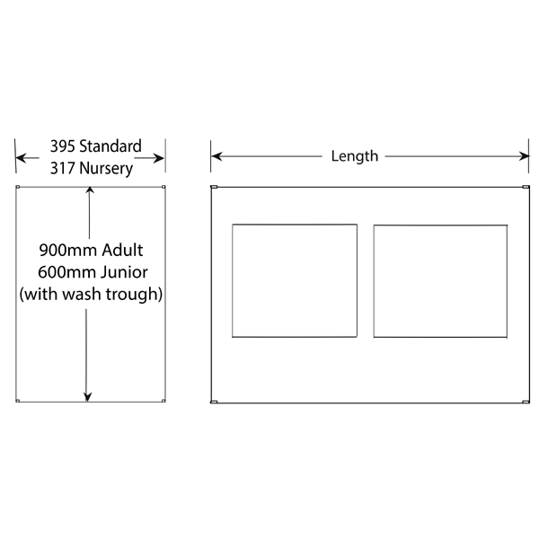 solid surface base unit dimensions