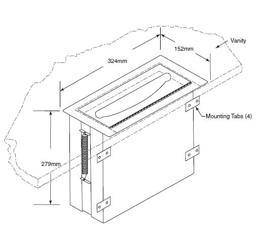 Countertop Length : countertop paper towel dimensions