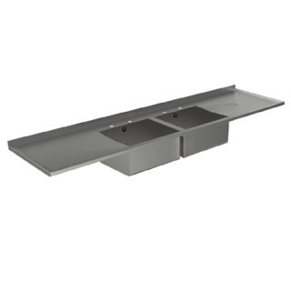 DBDD Double Bowl Double Drainer Catering Sink Tops image