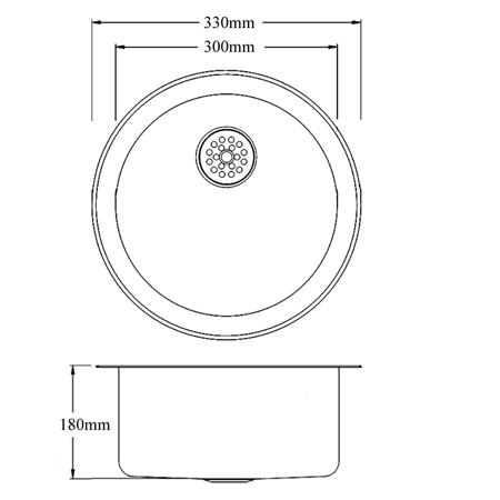 round dental sink