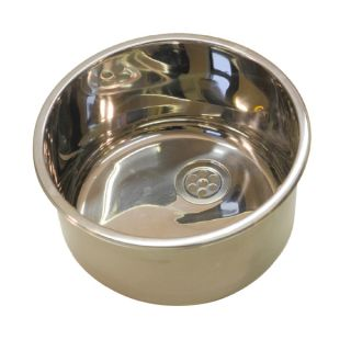 Stainless Steel Round Inset Dental Sink image