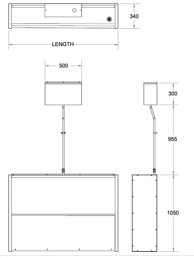 picture of floorstanding trough urinal dimensions