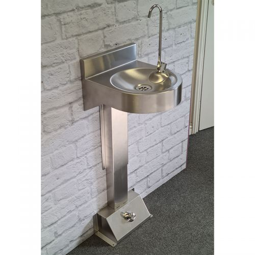 Foot Operated Bottle Filling Fountain  image