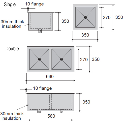 Sink Dimensions : Double Sink Dimensions Inset ice sink dimensions