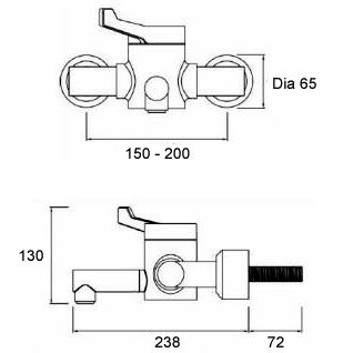 HTM64 Compliant Mixing Valve Tap image
