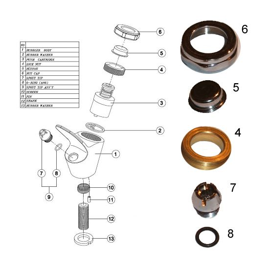 Bubbler Fittings Kit For Drinking Fountains