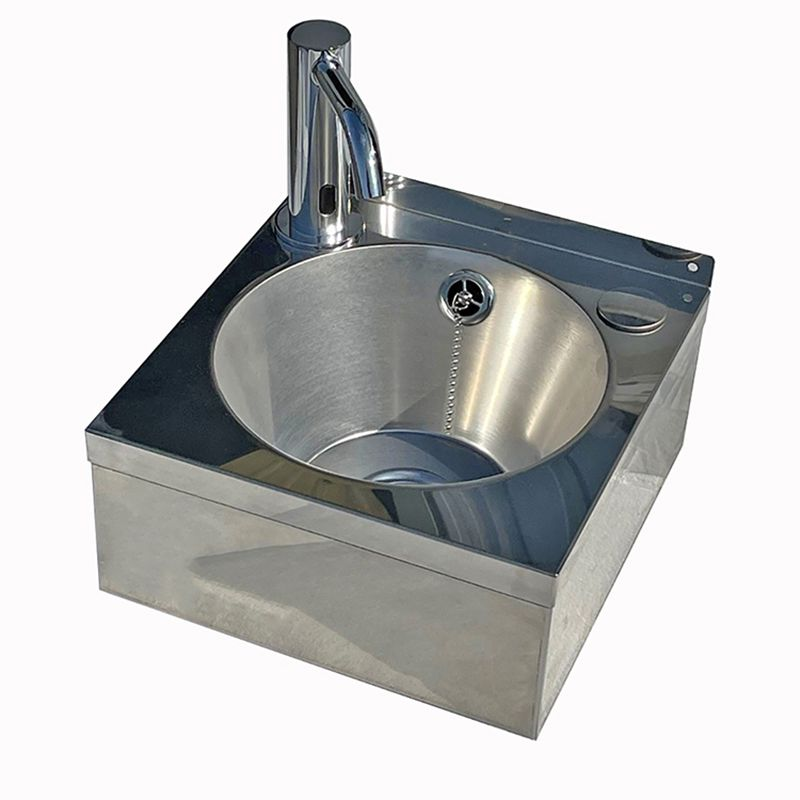 Small Wash Basin Price : Stainless Steel Compact Wash Basin With Sensor Tap - Washware ...