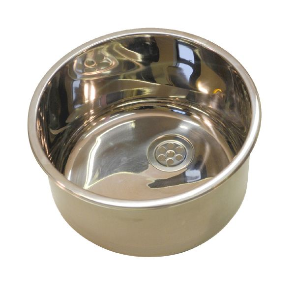 Stainless Steel Circular Inset Dentist Sink