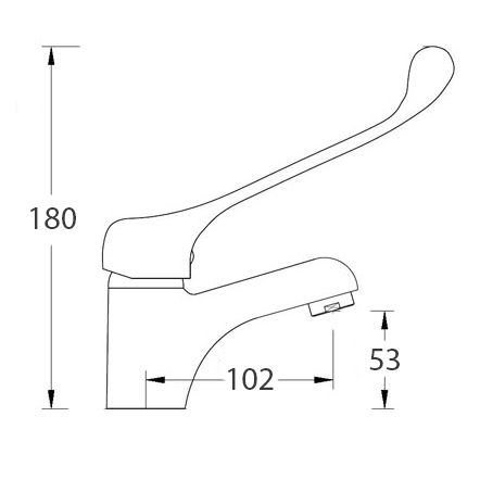 Long Lever Healthcare Mixer Tap