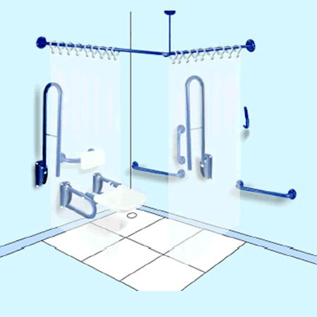 Stainless Steel Shower Grab Rail Pack - Washware Essentials