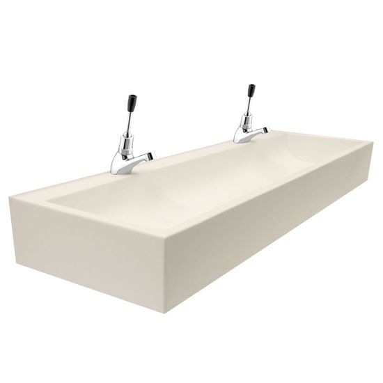 Sit-On Nursery Solid Surface Wash Trough