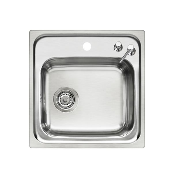 Small Single Bowl Inset Sink with Soap Dispenser