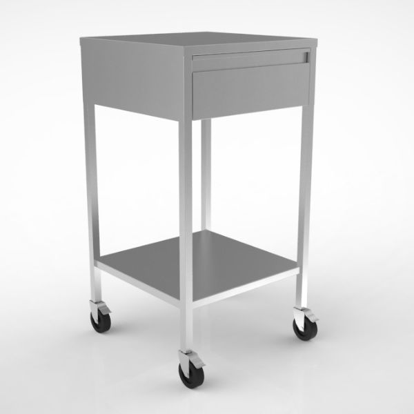 Stainless Steel Single Drawer Trolley