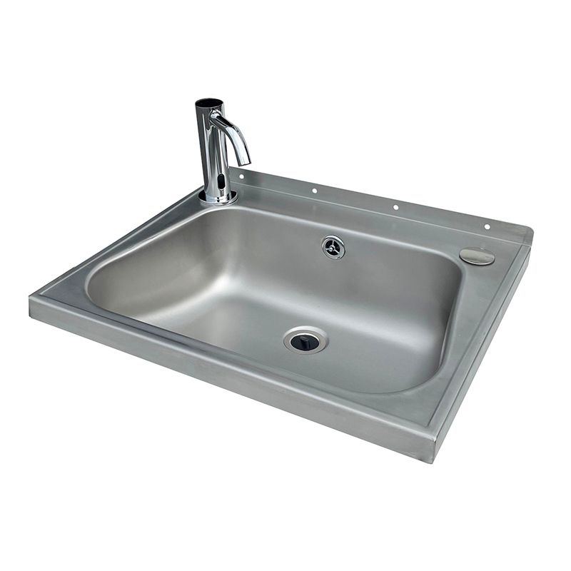 Stainless Steel Wash Hand Basin With Sensor Tap