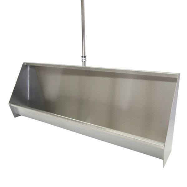 Stainless Steel Trough Urinals Up to 3300mm Long image