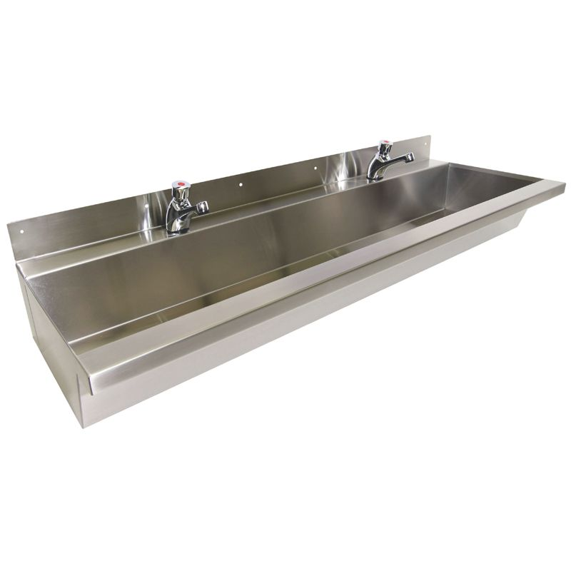 Trough Sink : Stainless Steel Wash Tough Commercial Wash Troughs