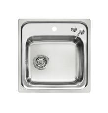 single inset catering sink with soap dispenser