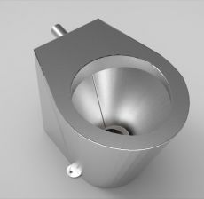 stainless steel back to wall pan