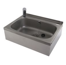 small wash basin with infrared sensor tap