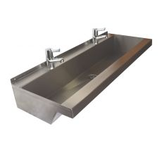 stock hand washing trough with lever mixer taps