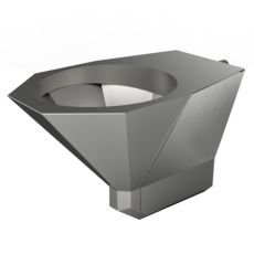 Wall Hung Stainless Steel WC Pan