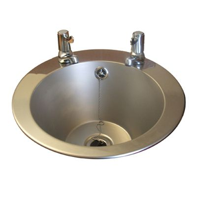 Stainless Steel Inset Wash Basin With Lever Taps image