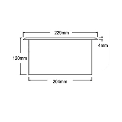 dimensions of large countertop waste chute