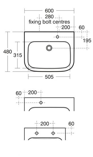 large portman basin dimensions