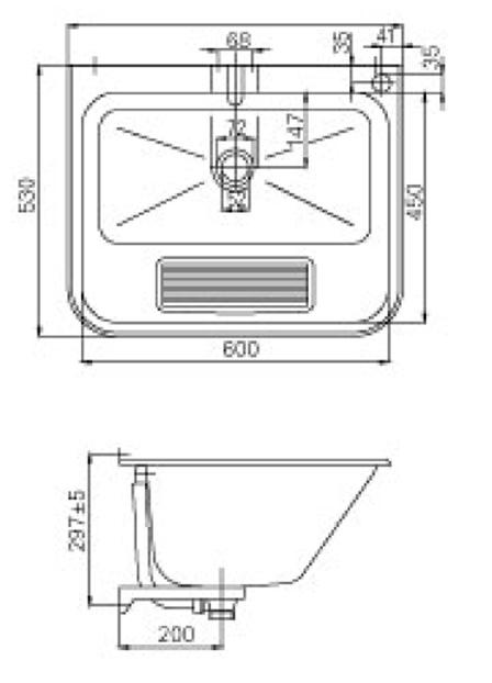 large utility sink bowl wall mounted