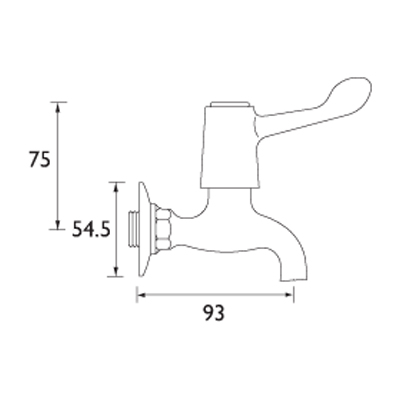 bib tap with levers
