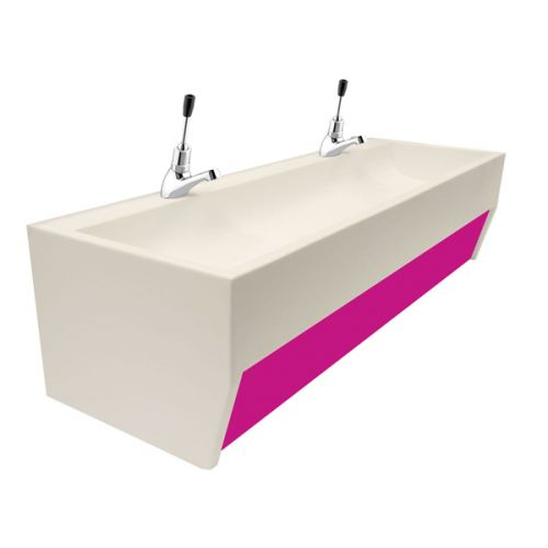 Wall Mounted Nursery And Pre School Solid Surface Wash Trough image