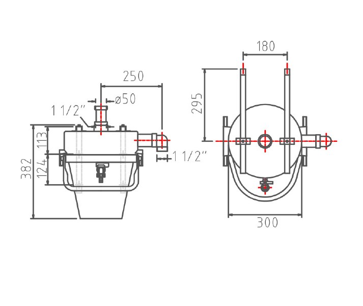 sediment / plaster separator