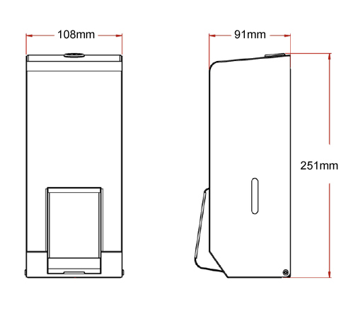 polished soap dispenser dimensions