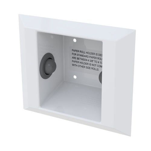 Ligature Resistant Recessed Toilet Roll Holder