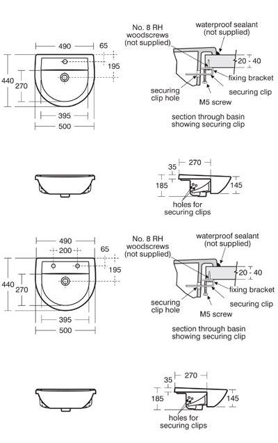 sandringham semi countertop wash basin dimensions
