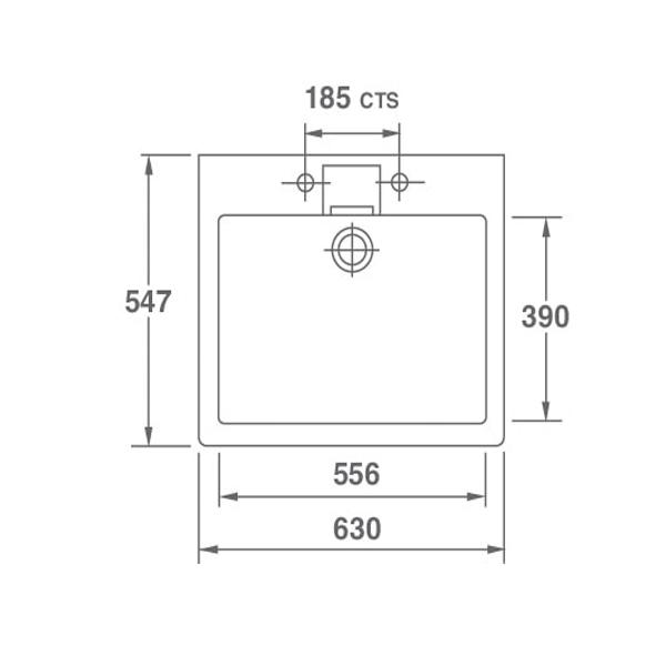 shelf sink dimensions