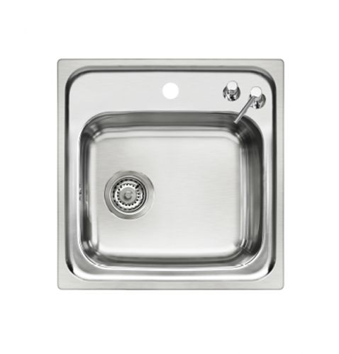 Small Single Bowl Inset Sink with Soap Dispenser image