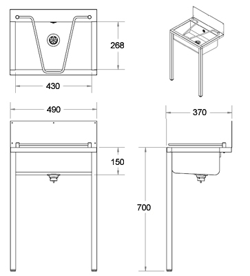 Stainless Steel Sink Dimensions : stainless steel cleaners sink dimensions
