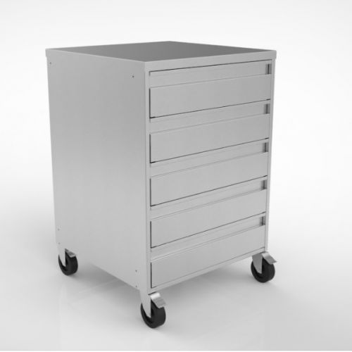 Stainless Steel Five Drawer Trolley image