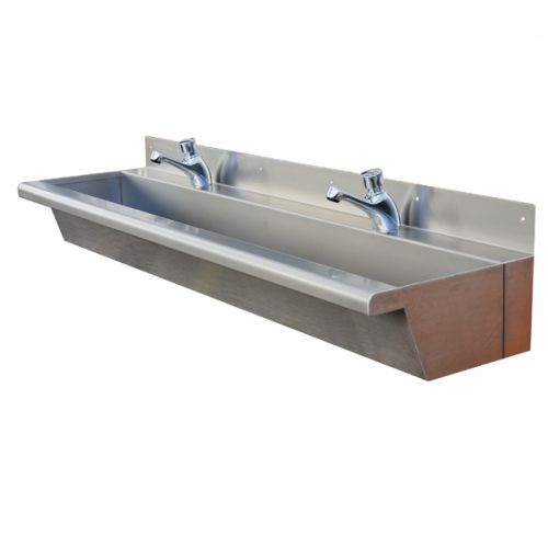 Metal Trough Sink : Nursery Wash Trough: School Trough Sinks: Stainless Steel