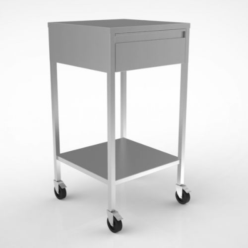 Stainless Steel Single Drawer Trolley image