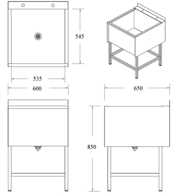 Stainless Steel Sink Dimensions : stainless steel utility sink dimensions
