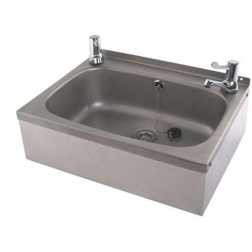 Stainless Steel Wash Basin With Lever Taps image